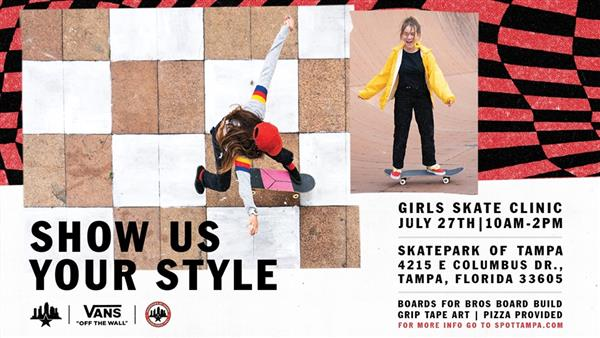 2nd Annual Girls Skate Clinic presented by Vans - Tampa 2019