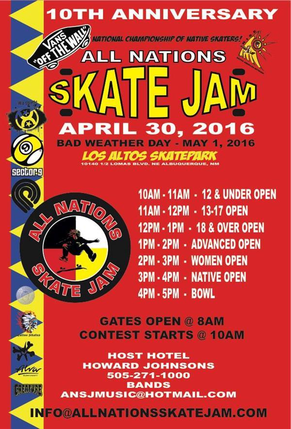 All Nations Skate Jam 2016