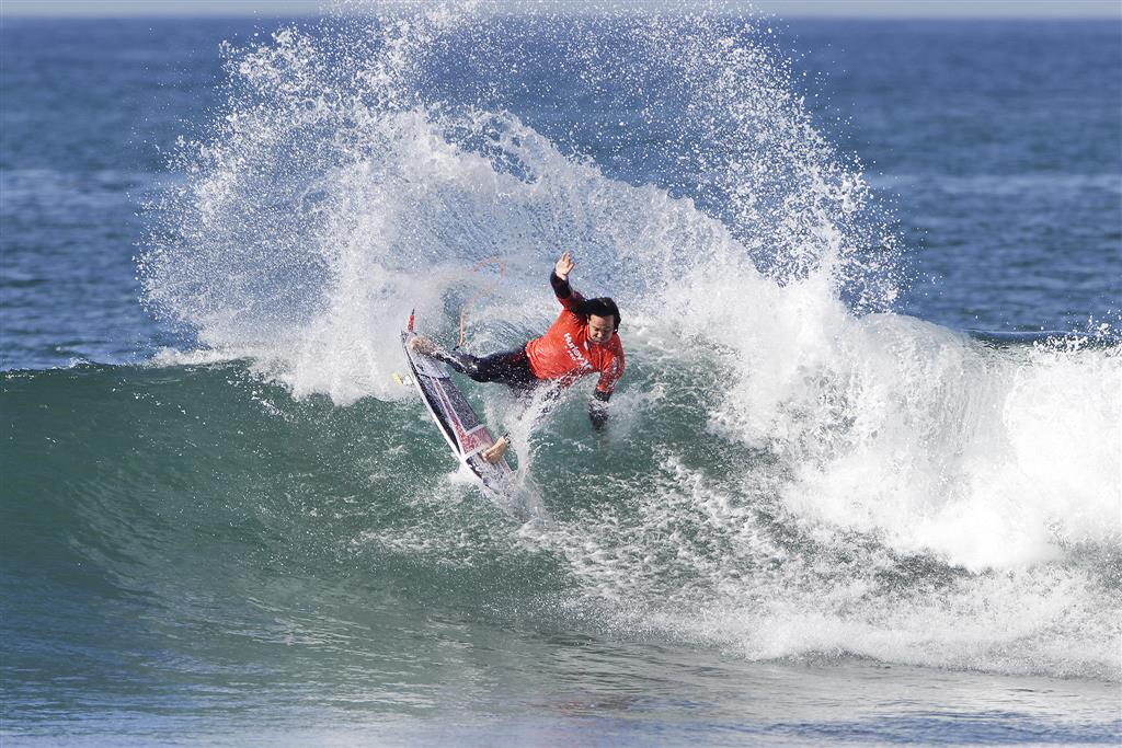 Jordy Smith of South Africa advancing to the final of the Hurley Pro Trestles after defeating Filipe Toledo of Brasil in his Semifinal at Lower Trestles on September 14, 2016, at San Clemente, California, USA. PHOTO © WSL/Rowland